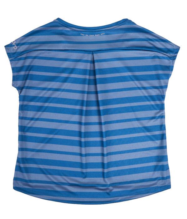 YOY'D-Yva-tshirt-blauw-streep