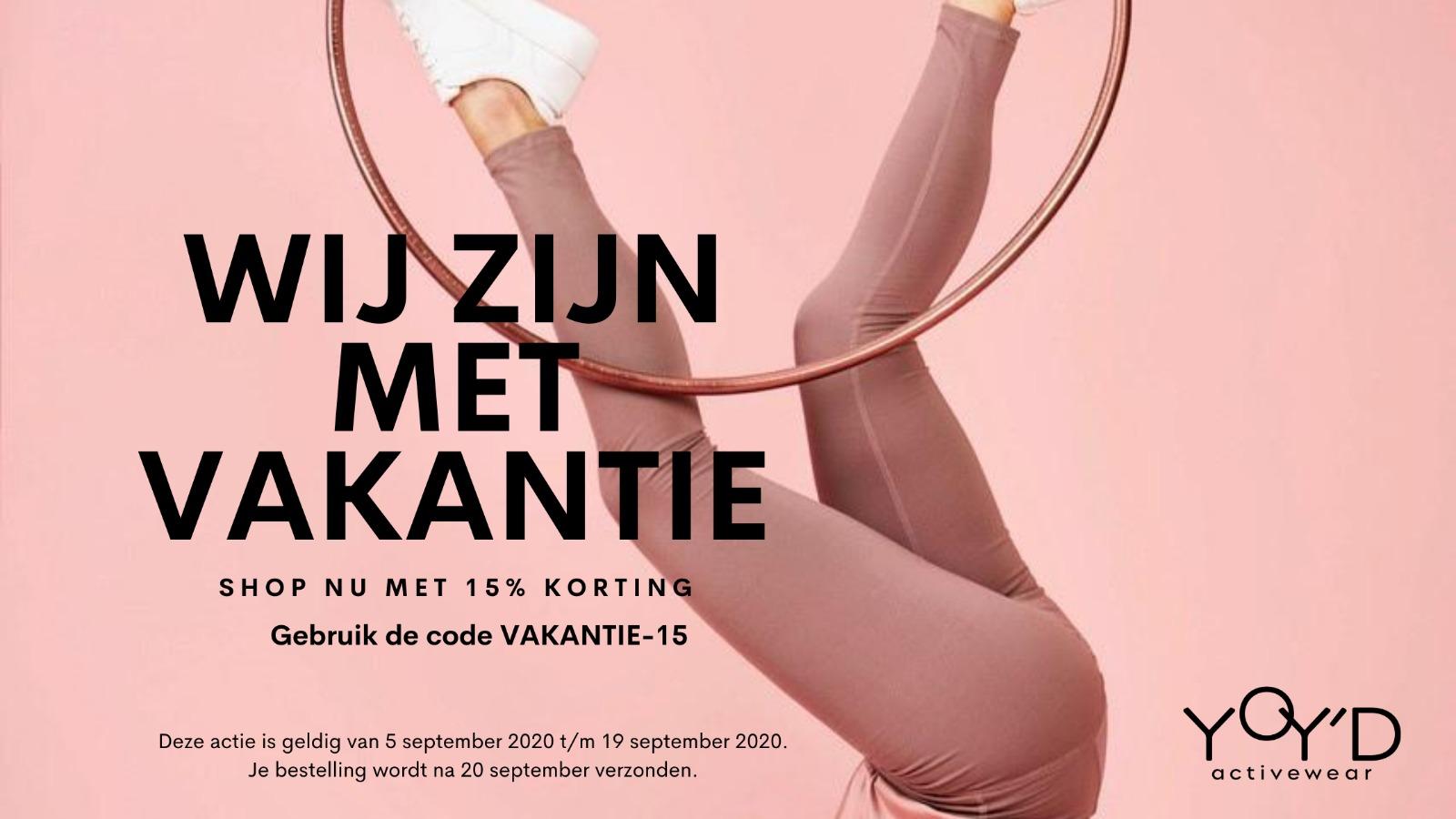 yoydactivewear-vakantie-korting-banner